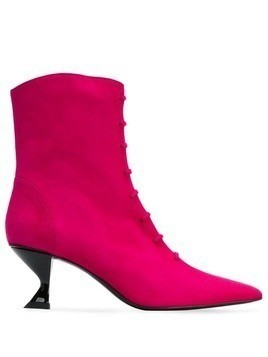 Dorateymur structured heel ankle boots - Pink