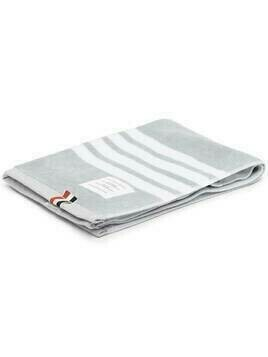 Thom Browne 4-Bar embroidered towel - 035 MED GREY