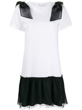 Red Valentino lace-trimmed T-shirt dress - White