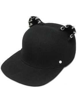 Karl Lagerfeld Choupette chain embellished cap - Black