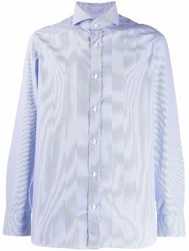 Borrelli long-sleeve fitted shirt - Blue