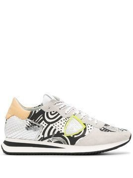 Philippe Model Paris Tropez graphic-print sneakers - Grey