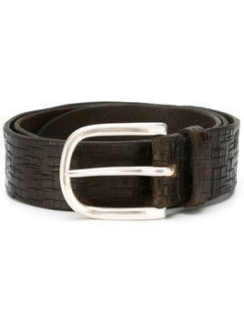 Orciani classic buckle belt - Brown