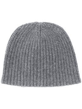 Lamberto Losani ribbed knit beanie - Grey