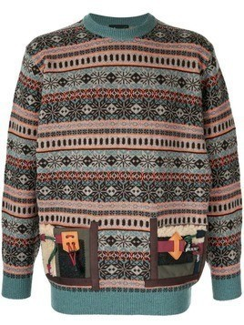 Kolor Fair Isle knit jumper - Multicolour