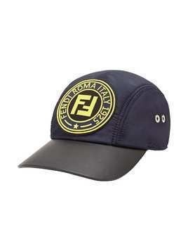 Fendi logo patch baseball cap - Blue
