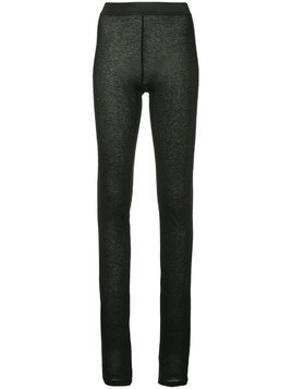 Ann Demeulemeester knitted leggings - Black
