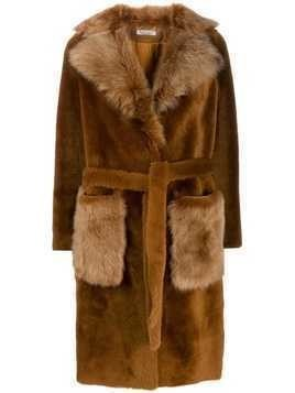 Desa 1972 longline coat - Brown
