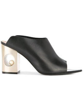 Coliac open-toe mules - Black