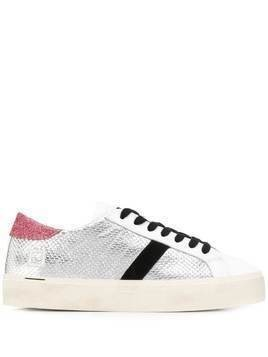 D.A.T.E. side stripe sneakers - White