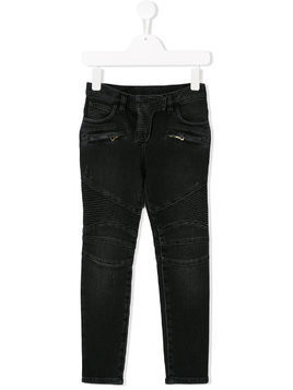 Balmain Kids zipped pockets jeans - Black