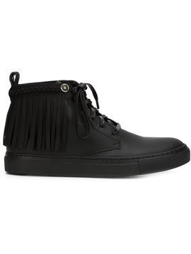 Valas fringed hi-top sneakers - Black