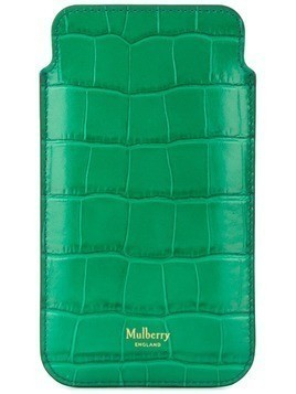 Mulberry embossed crocodile effect iPhone pouch - Green