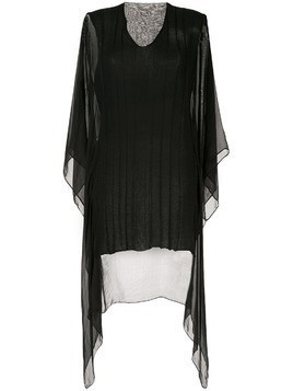 Masnada sheer panel draped top - Black
