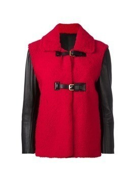 Louis Vuitton Vintage buckled shearling jacket - Red