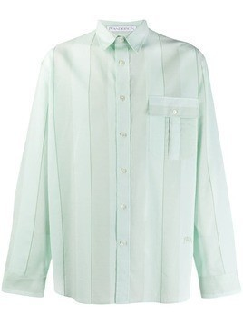 JW Anderson oversized striped shirt - Green