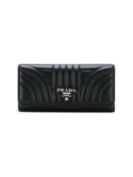 Prada quilted continental wallet - Black