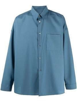 Marni long-sleeved shirt - Blue