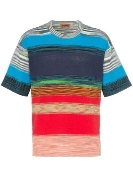 Missoni colourblock striped print T-shirt - Blue