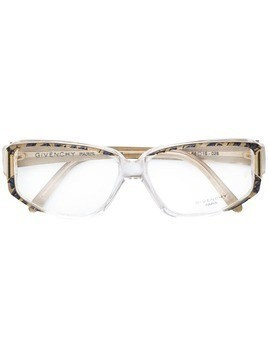 Givenchy Pre-Owned patterned logo glasses - Metallic