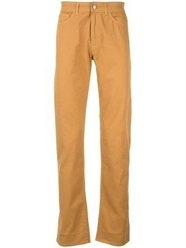 Gieves & Hawkes straight leg trousers - Yellow