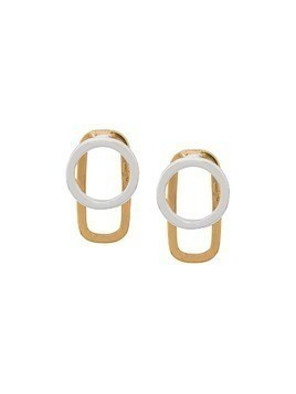 Maya Magal double link studs - Gold