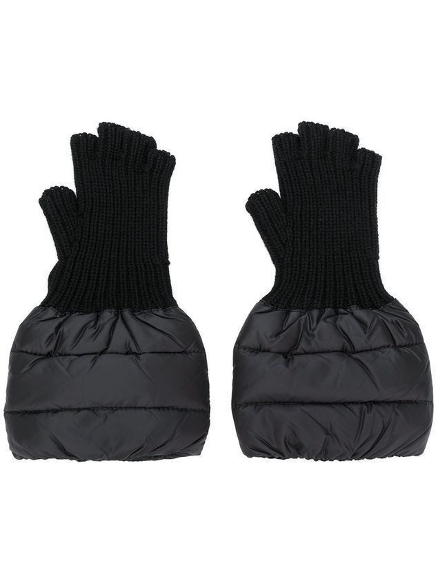 Moncler fingerless gloves - Black