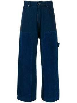 David Catalan panelled wide leg jeans - Blue