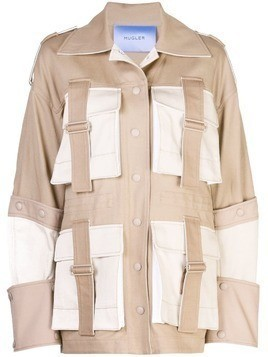 Mugler belted safari jacket - Brown