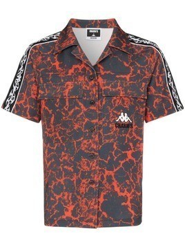 Charm's lava print short-sleeved shirt - Red