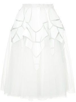 Isabel Sanchis flared midi skirt - White