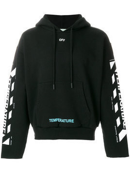 Off-White - temperature hoodie - Herren - Cotton - M - Black