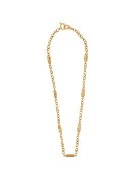 Chanel Vintage cutout twisted long necklace - Metallic