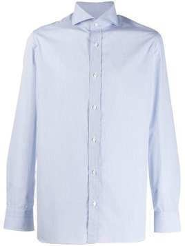 Borrelli long-sleeve fitted shirt - White
