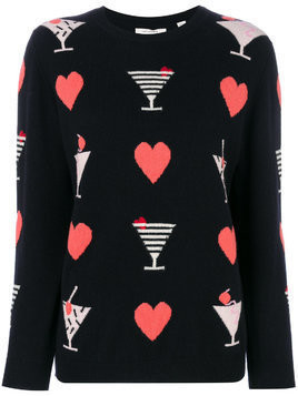 Chinti & Parker cocktail heart jumper - Unavailable