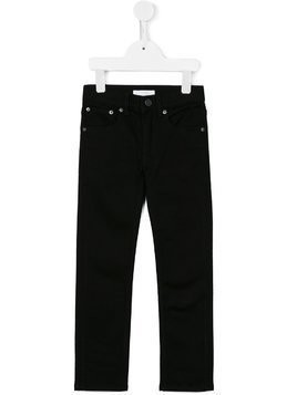 Burberry Kids skinny fit jeans - Black