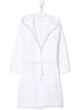 La Perla Kids bathrobe - White