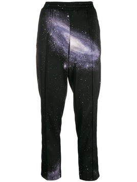 Pinko space print track pants - Black