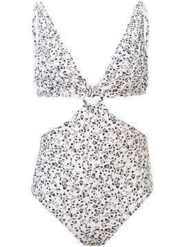 Peony cut-out swimsuit - White