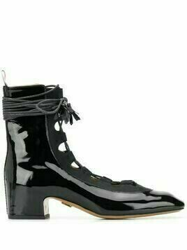 Thom Browne Ghillie leather boots - Black