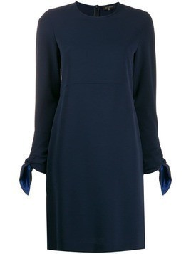 Antonelli knot-sleeve shift dress - Blue