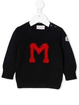 Moncler Kids M knit sweater - Blue