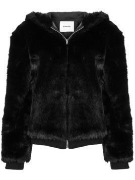 Dondup faux fur hooded jacket - Black