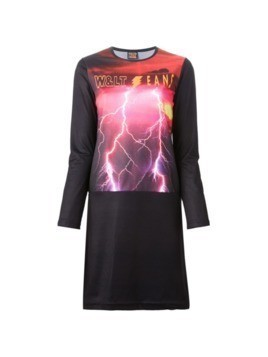 Walter Van Beirendonck Vintage flash print dress - Black