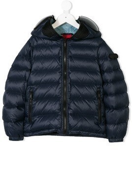 Ai Riders On The Storm Kids hooded padded jacket - Blue
