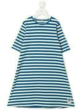 Mini Rodini stripe print midi dress - Blue