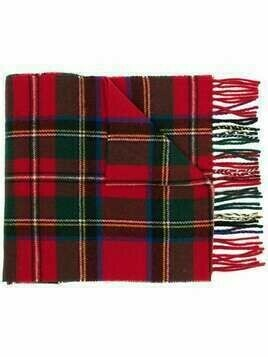 Polo Ralph Lauren tartan print recycled wool-blend scarf - Red