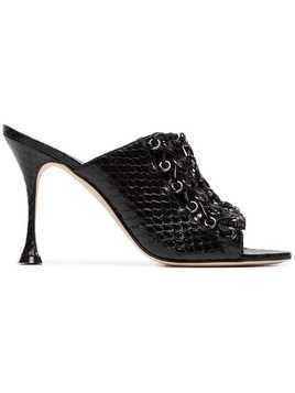 Liudmila leather drury 100 mules - Black