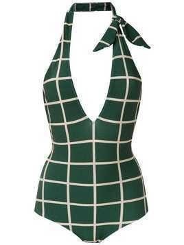 Adriana Degreas checked swimsuit - Green