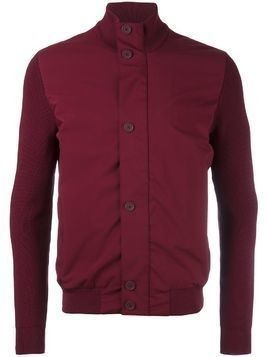 Z Zegna stand up collar contrast jacket - Red